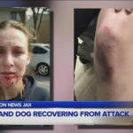 Lady, dog dealing with dog attack in jacksonville