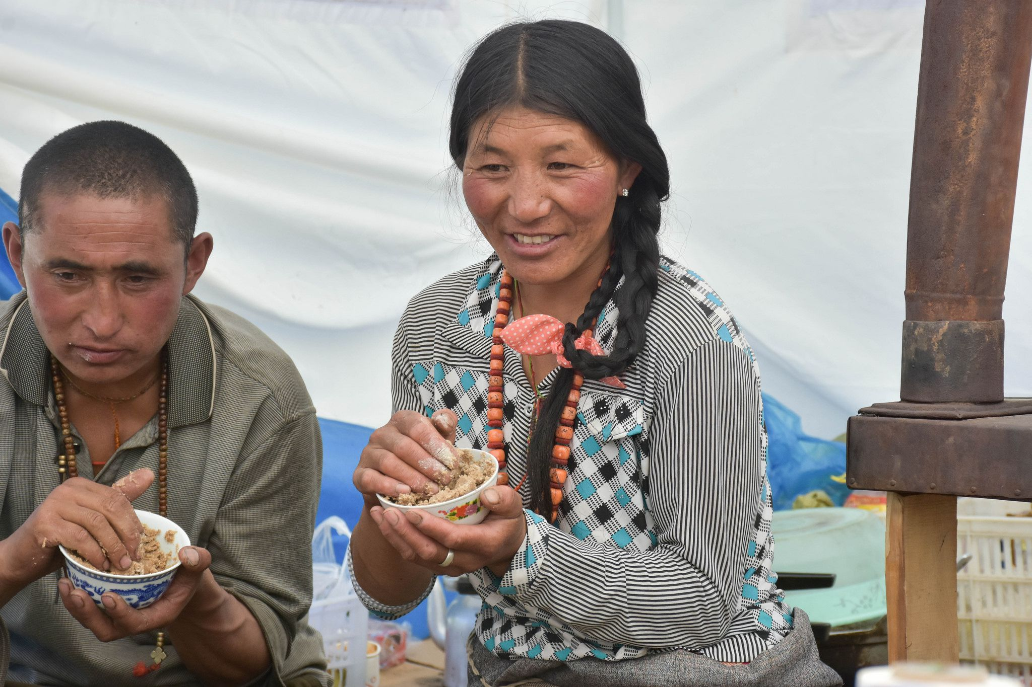Yak butter teas are a conventional tibetan drink having a practical purpose - eater bloodstream, muscle, fat