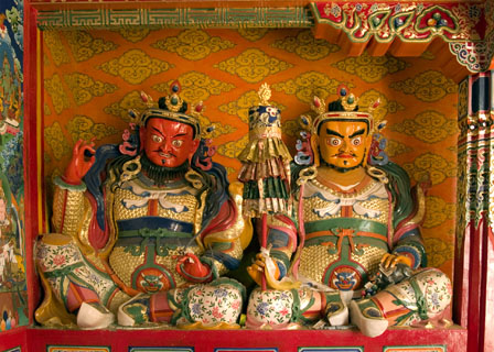 protector dieties in a Buddhist temple