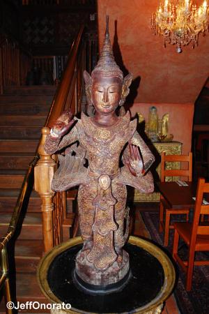 Yak & Yeti Statue Greeting Diners