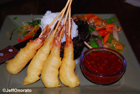 Yak and Yeti Shaoxing Steak Shrimp